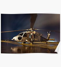 A U.S. Navy MH-60S Seahawk helicopter. Poster