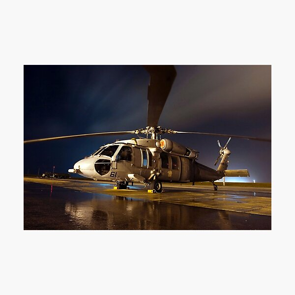 A U.S. Navy MH-60S Seahawk helicopter. Photographic Print
