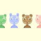 Cute animal fans by peppermintpopuk