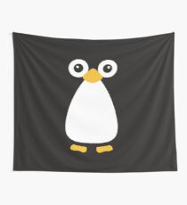Cute Vector Penguin Wall Tapestry