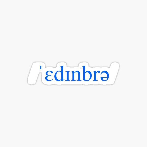 Edinburgh phonetic Sticker