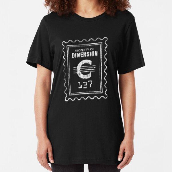 Property of Dimension C-137 Slim Fit T-Shirt