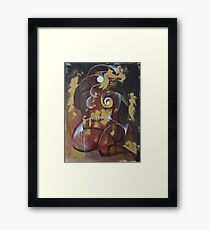 The Earth and The Moon Framed Print
