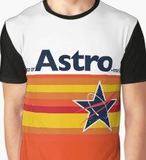 Mann oder Astro-Mann? Vintage Baseball Grafik T-Shirt