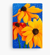 Summer Skies and Sunflowers Canvas Print