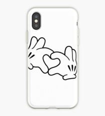 Mickey Heart Hands iPhone Case