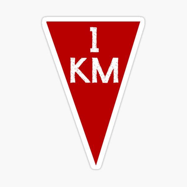 1 km finish Sticker