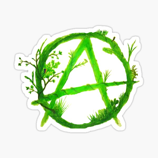 green anarchy painted Sticker