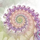 Watercolor Fibonacci Spiral by Kelly Dietrich