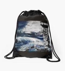 Stormy water 3 Drawstring Bag