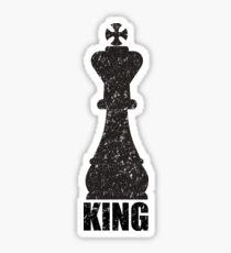 Chess Piece Design - King Sticker