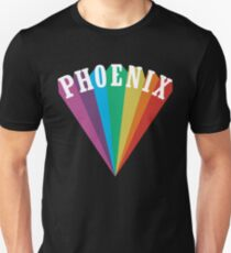Phoenix Rainbow Black T-Shirt