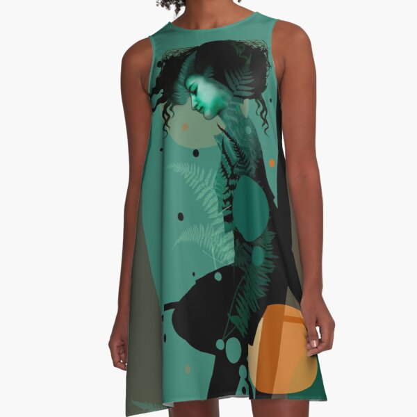 The Girl and the Moon A-Line Dress