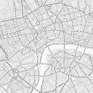 Typografie Karte von London von Graphical-Maps