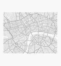 Typography Map of London Photographic Print