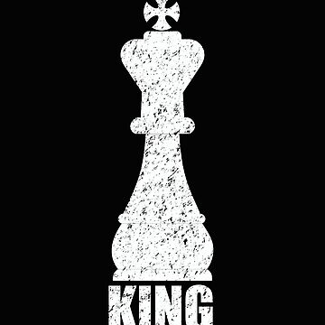 Chess Distressed Design - King by kudostees