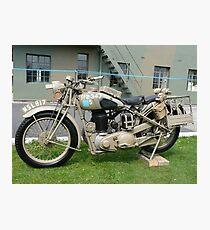 WW2 British Army Motorcycle Photographic Print