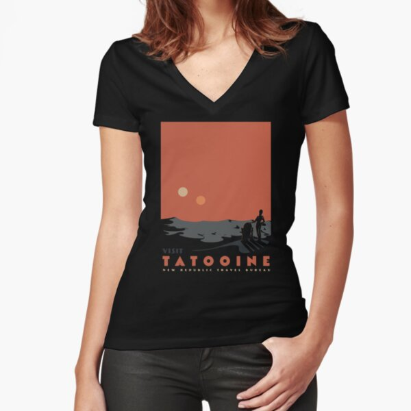 Visit Tatooine Fitted V-Neck T-Shirt