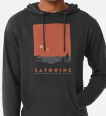 Besuche Tatooine Leichter Hoodie