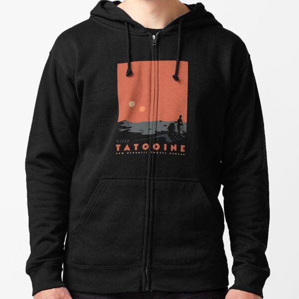 Visit Tatooine Zipped Hoodie