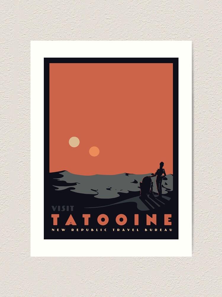 Alternate view of Visit Tatooine Art Print