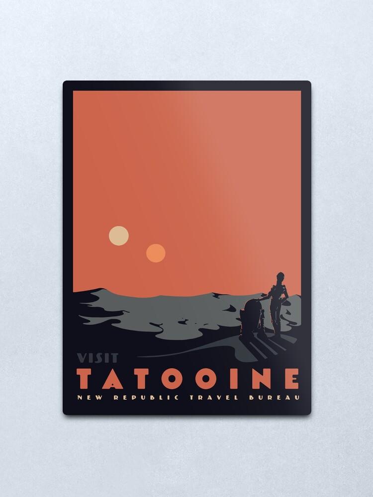 Alternate view of Visit Tatooine Metal Print