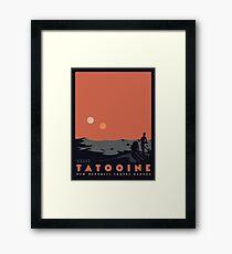 Lámina enmarcada Visita Tatooine