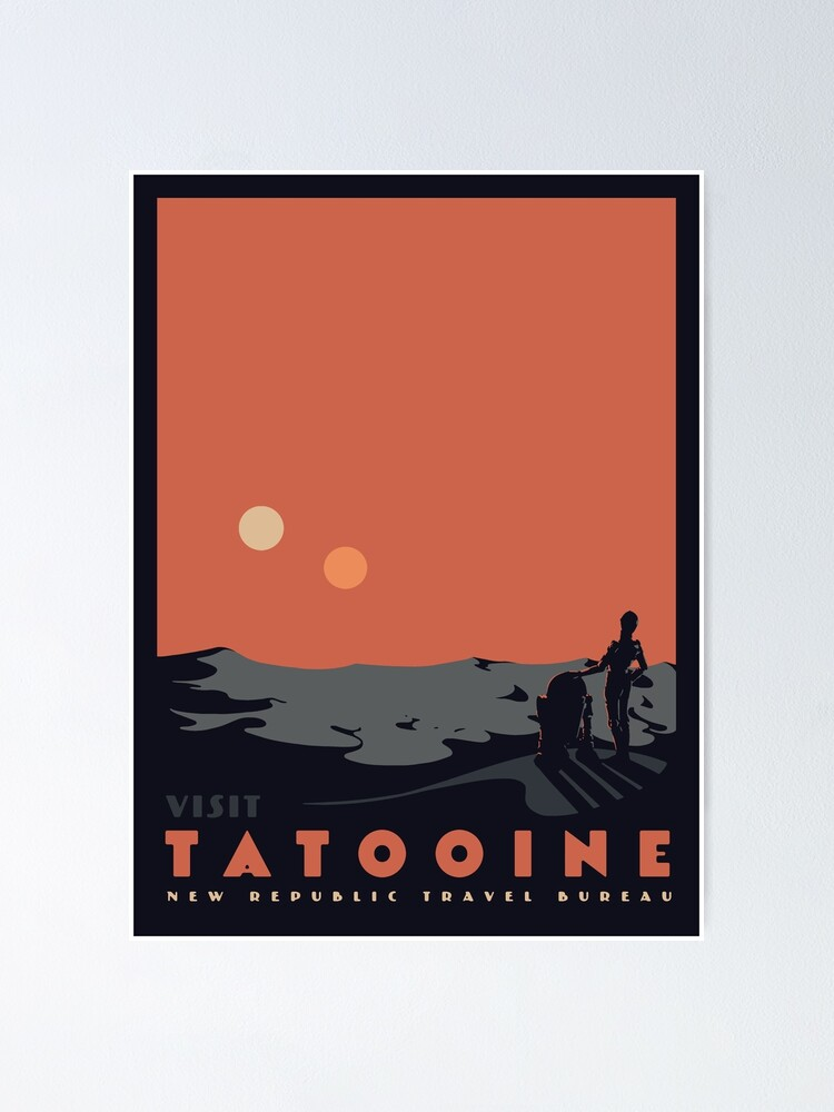 Alternate view of Visit Tatooine Poster