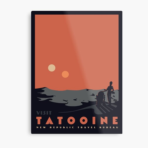Visit Tatooine Metal Print