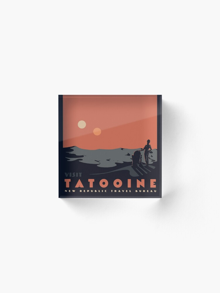 Alternate view of Visit Tatooine Acrylic Block
