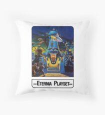 He-Man - Eternia Playset - Trading Card Design Throw Pillow