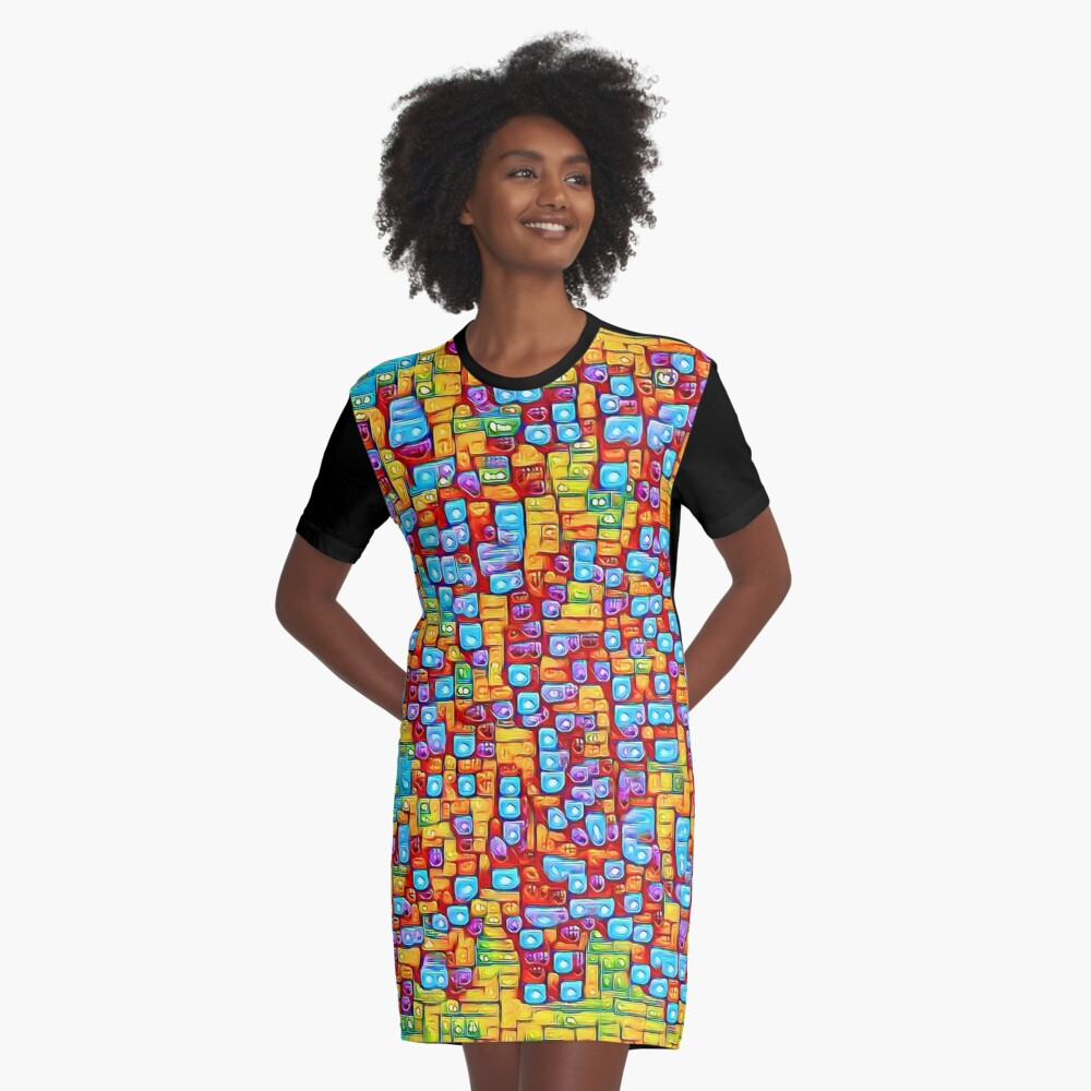 SkyBlue 22% Graphic T-Shirt Dress
