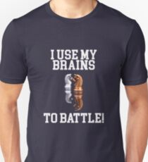 I Use My Brains To Battle - Chess Design T-Shirt