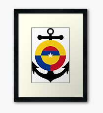 Roundel of the Colombian Naval Aviation  Framed Print