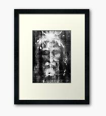 Shroud of Turin, Turin Shroud, Christianity, Christian, Icon, Bible, Biblical, Resurrection, Framed Print