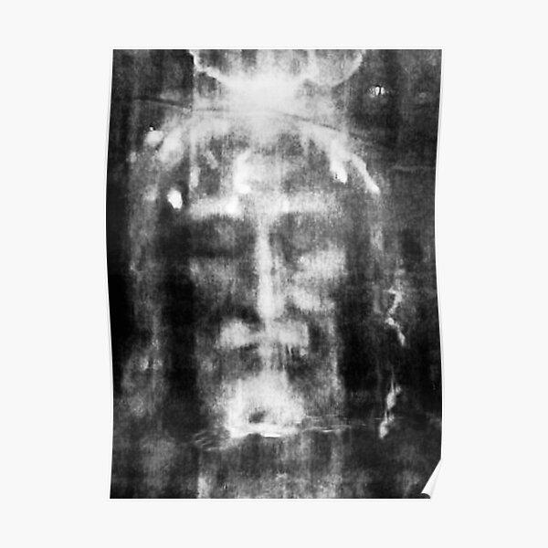 Shroud of Turin. Turin Shroud. Christianity, Christian, Icon, Bible, Biblical, Resurrection. Poster