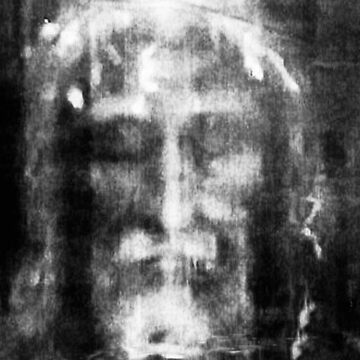 Shroud of Turin, Turin Shroud, Christianity, Christian, Icon, Bible, Biblical, Resurrection, by TOMSREDBUBBLE