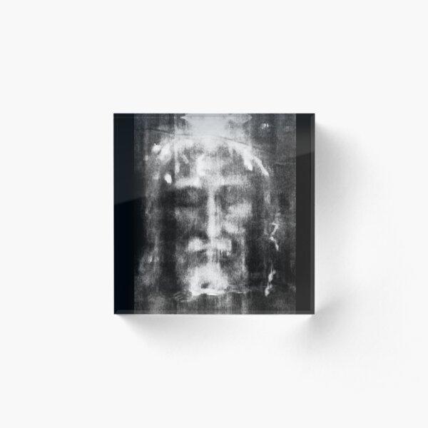 Shroud of Turin. Turin Shroud. Christianity, Christian, Icon, Bible, Biblical, Resurrection. Acrylic Block