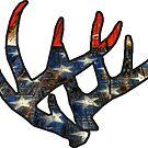 «USA Deer Antlers Merica Hunting» de Statepallets