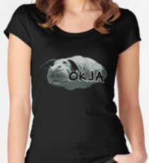 Okja Movie Fitted Scoop T-Shirt