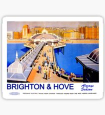 Brighton and Hove, Always in season, vintage, travel, poster Sticker