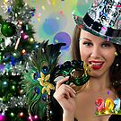 Sexy Santa's Helper -  Happy New Year postcard Wallpaper Template 1 by Anton Oparin