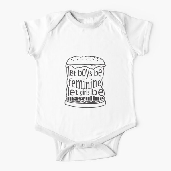 The Anti Sexism Burger Short Sleeve Baby One-Piece