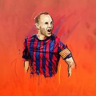 Classic Iniesta by Mark White