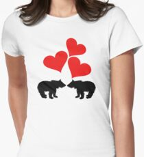 Hearts & Bear Cubs Womens Fitted T-Shirt