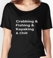 a9b20e454 Crabbing Fishing Crabbing Chill Shirt Vacation Tee Women's Relaxed Fit T- Shirt