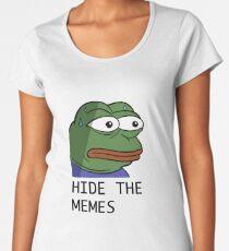 Camiseta premium para mujer Ocultar los memes monkaS