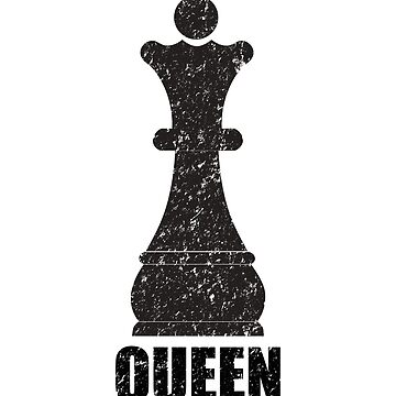 Chess Distressed Design - Queen by kudostees
