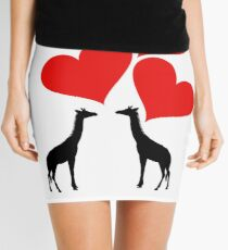 Hearts & Giraffes Mini Skirt