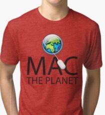 Mac The Planet Black Text Tri-blend T-Shirt